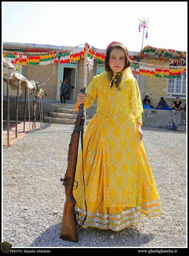 عکس دختر قشقایی